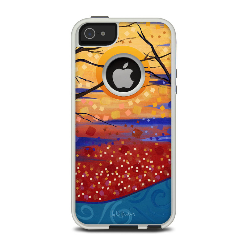 OtterBox Commuter iPhone 5 Case Skin design of Tree, Branch, Painting, Modern art, Art, Acrylic paint, Woody plant, Leaf, Sky, Plant with red, blue, black, green, orange, gray colors