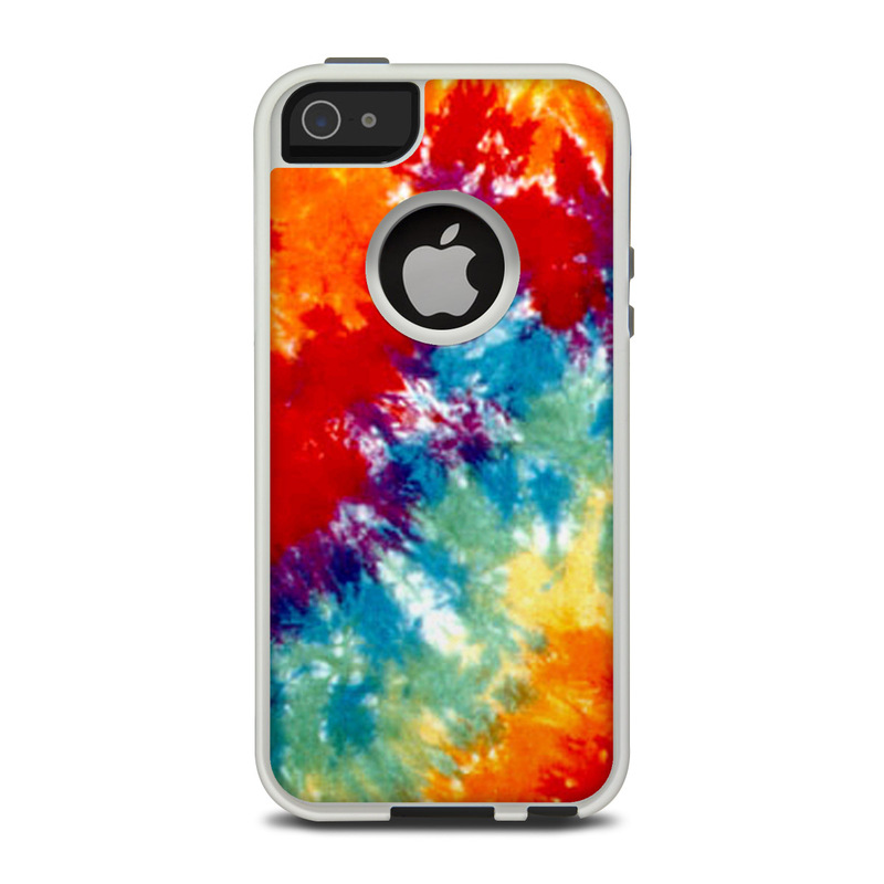 OtterBox Commuter iPhone 5 Case Skin design of Orange, Watercolor paint, Sky, Dye, Acrylic paint, Colorfulness, Geological phenomenon, Art, Painting, Organism with red, orange, blue, green, yellow, purple colors