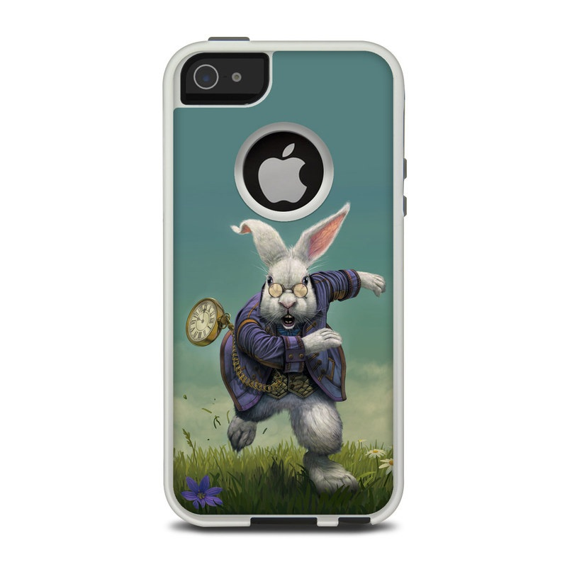 White Rabbit OtterBox Commuter iPhone 5 Skin