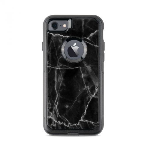 Black Marble OtterBox Commuter iPhone 8 Case Skin