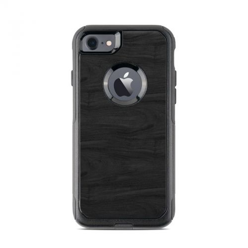 Black Woodgrain OtterBox Commuter iPhone 8 Case Skin