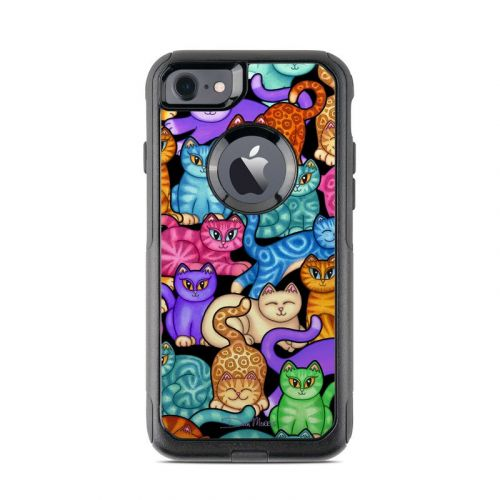 Colorful Kittens OtterBox Commuter iPhone 7 Skin