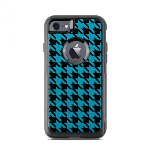 Teal Houndstooth OtterBox Commuter iPhone 8 Case Skin