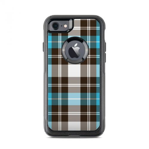 Turquoise Plaid OtterBox Commuter iPhone 7 Skin