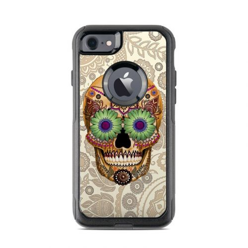 Sugar Skull Bone OtterBox Commuter iPhone 8 Case Skin
