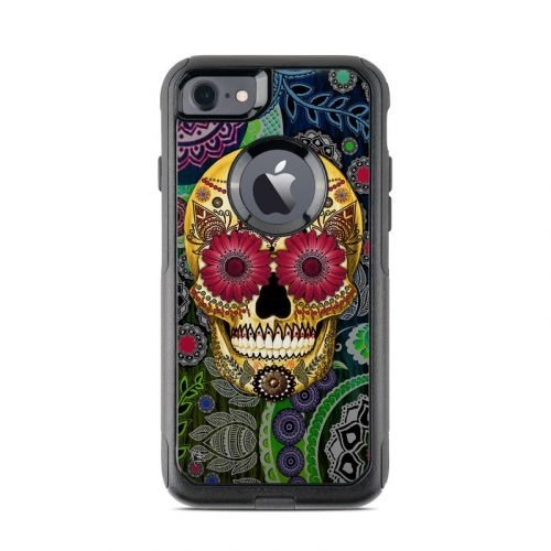 Sugar Skull Paisley OtterBox Commuter iPhone 7 Skin