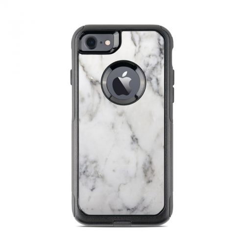 White Marble OtterBox Commuter iPhone 8 Case Skin