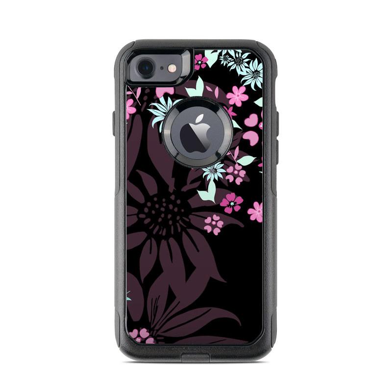 Dark Flowers OtterBox Commuter iPhone 7 Skin