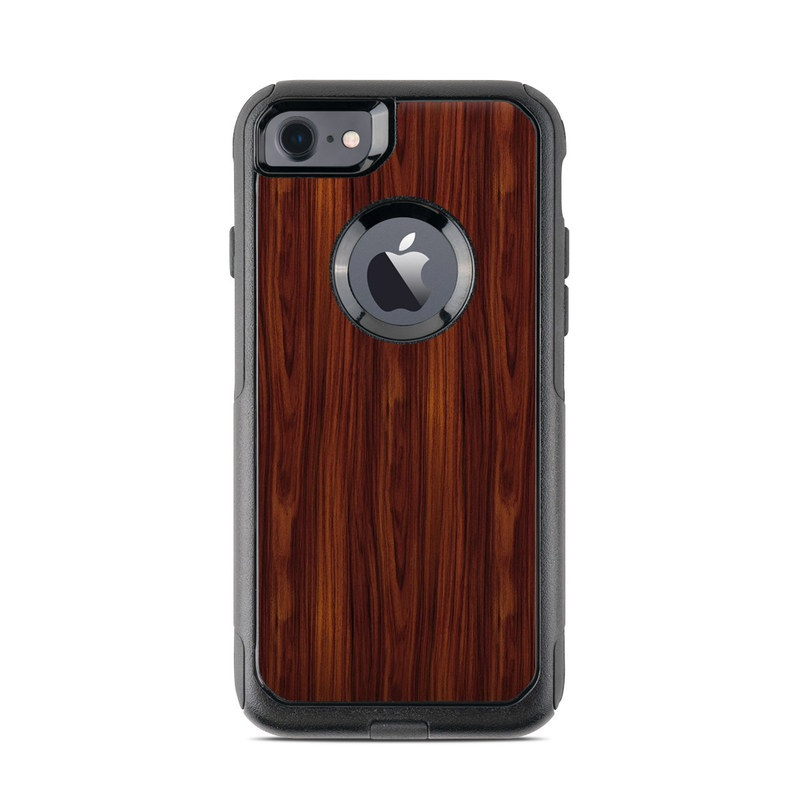 OtterBox Commuter iPhone 8 Case Skin design of Wood, Red, Brown, Hardwood, Wood flooring, Wood stain, Caramel color, Laminate flooring, Flooring, Varnish with black, red colors