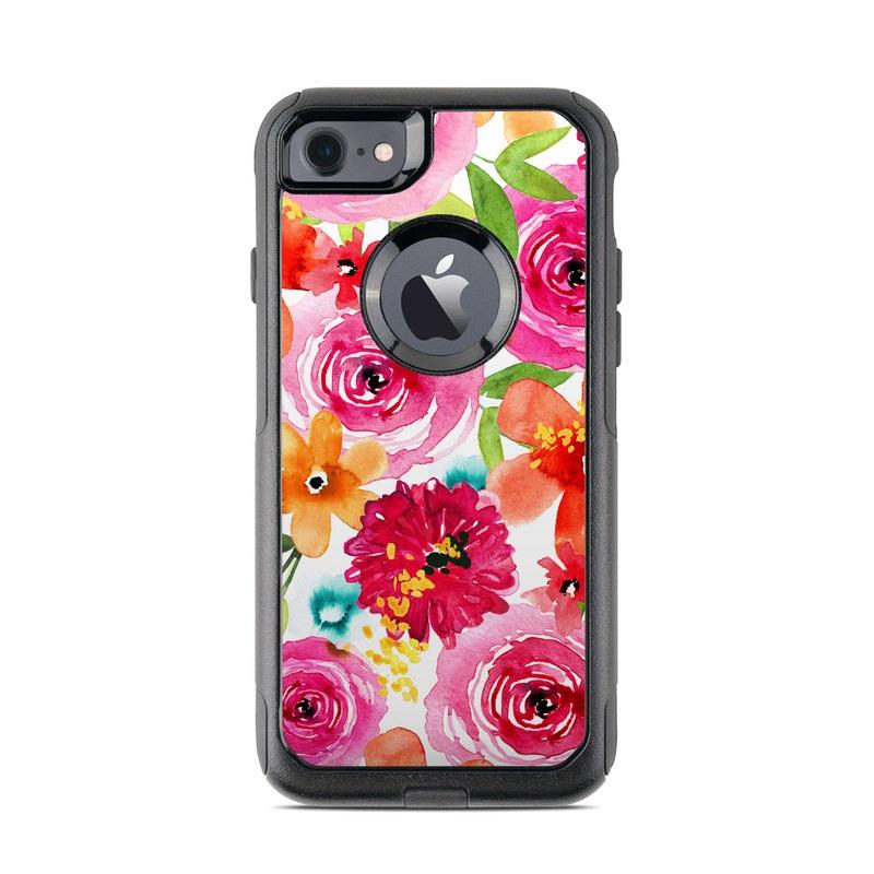 Floral Pop OtterBox Commuter iPhone 8 Case Skin