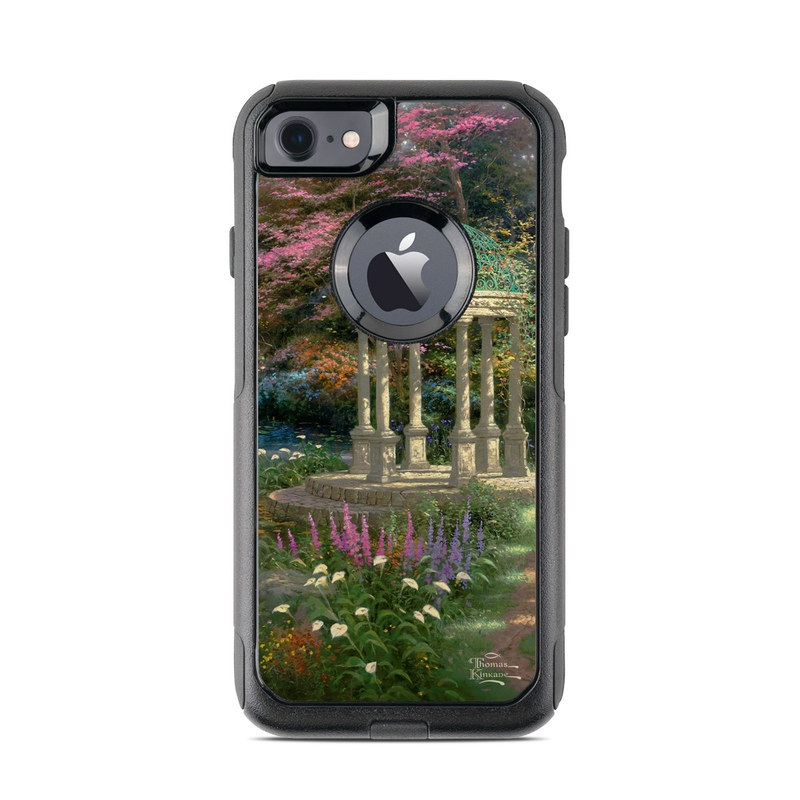 OtterBox Commuter iPhone 8 Case Skin design of Nature, Natural landscape, Tree, Botany, Water, Garden, Gazebo, Spring, Plant, Reflection with black, gray, green, red, purple colors