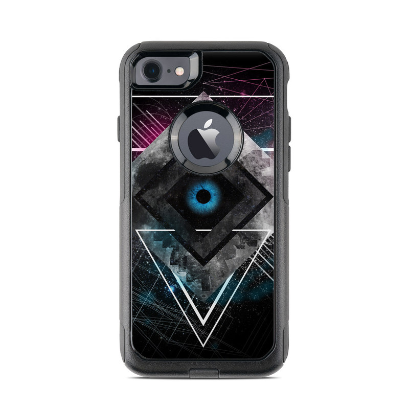 OtterBox Commuter iPhone 8 Case Skin design of Graphic design, Design, Pattern, Graphics, Illustration, Font, Circle, Triangle, Fractal art, Logo with black, gray colors
