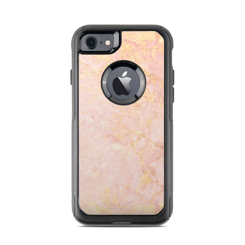 Rose Gold Marble OtterBox Commuter iPhone 8 Case Skin