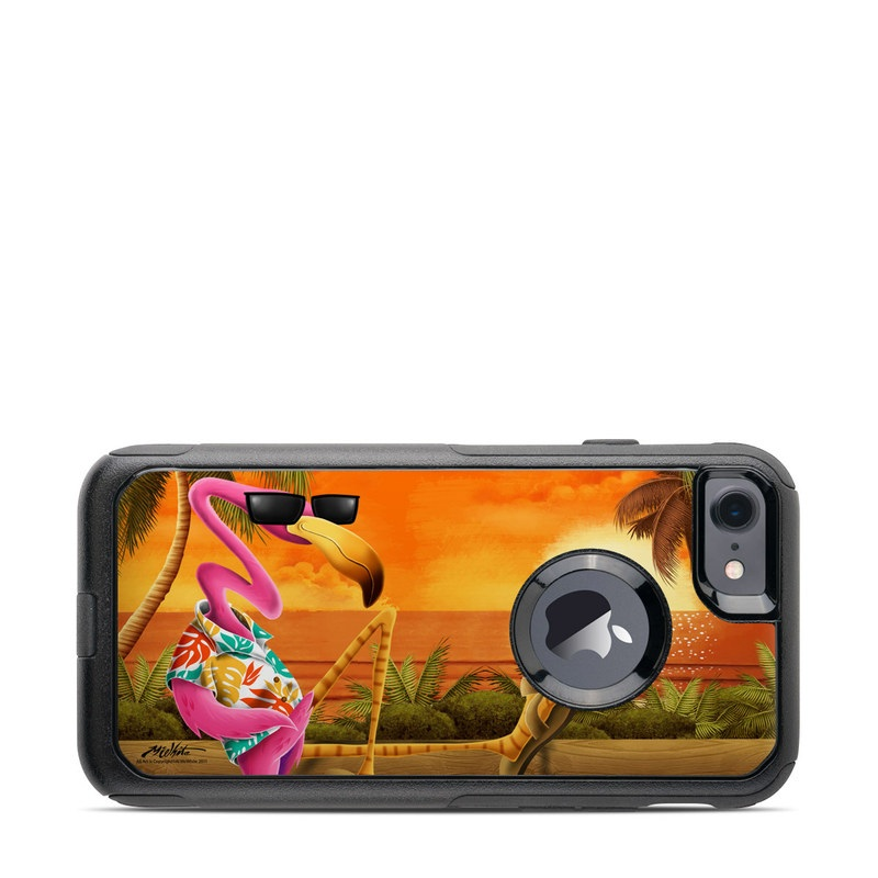 Sunset Flamingo OtterBox Commuter iPhone 7 Skin
