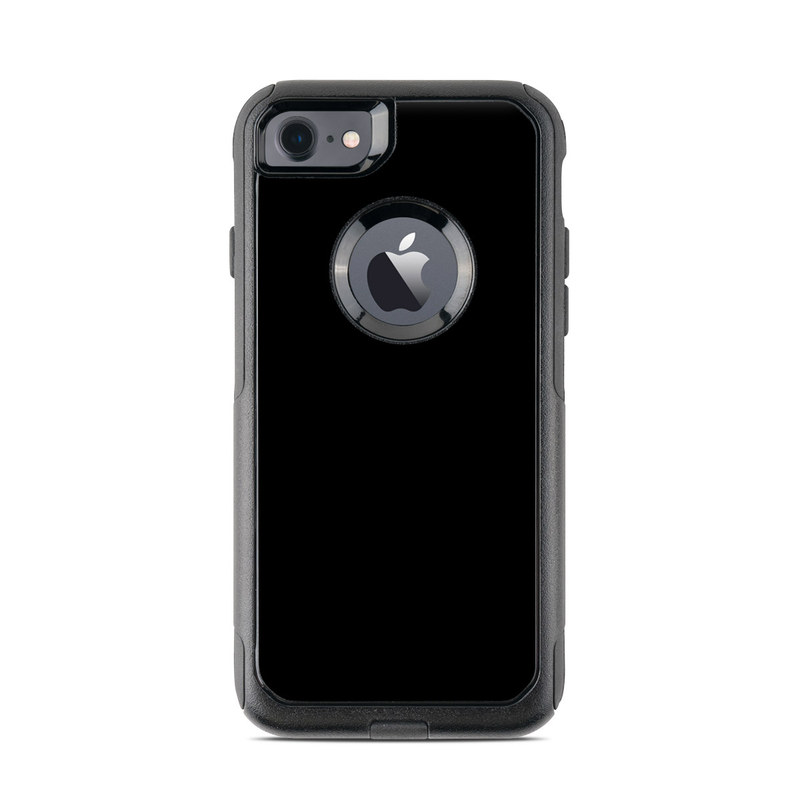 Solid State Black OtterBox Commuter iPhone 8 Case Skin