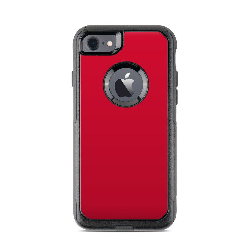 OtterBox Commuter iPhone 8 Case Skin design of Red, Pink, Maroon, Purple, Orange, Violet, Magenta, Material property, Font, Peach with red colors