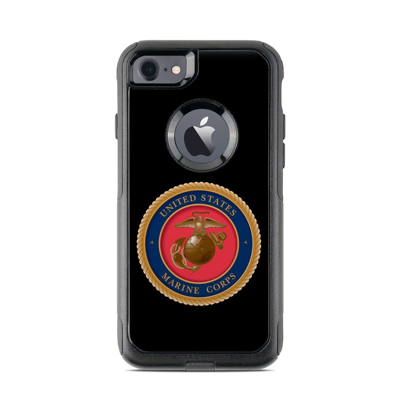 USMC Black OtterBox Commuter iPhone 7 Skin