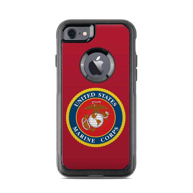USMC Red OtterBox Commuter iPhone 8 Case Skin