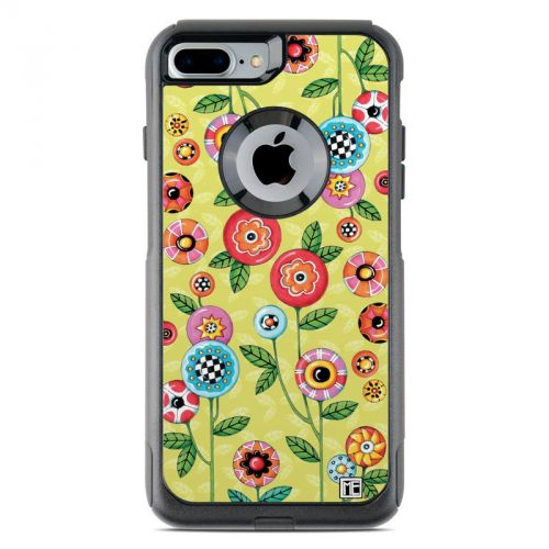Button Flowers OtterBox Commuter iPhone 7 Plus Skin