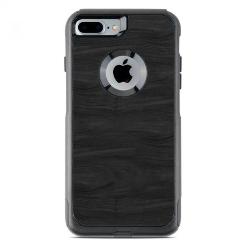 Black Woodgrain OtterBox Commuter iPhone 8 Plus Case Skin
