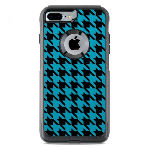 Teal Houndstooth OtterBox Commuter iPhone 8 Plus Case Skin
