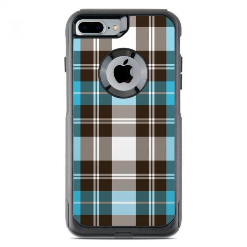 Turquoise Plaid OtterBox Commuter iPhone 7 Plus Skin