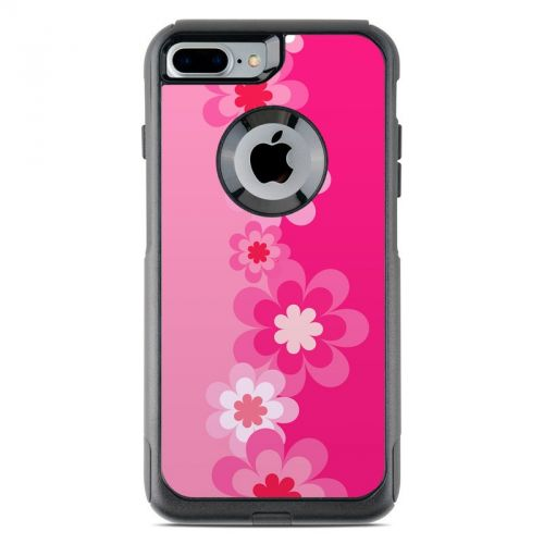 Retro Pink Flowers OtterBox Commuter iPhone 7 Plus Skin