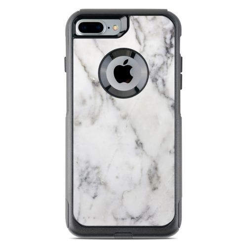 White Marble OtterBox Commuter iPhone 8 Plus Case Skin