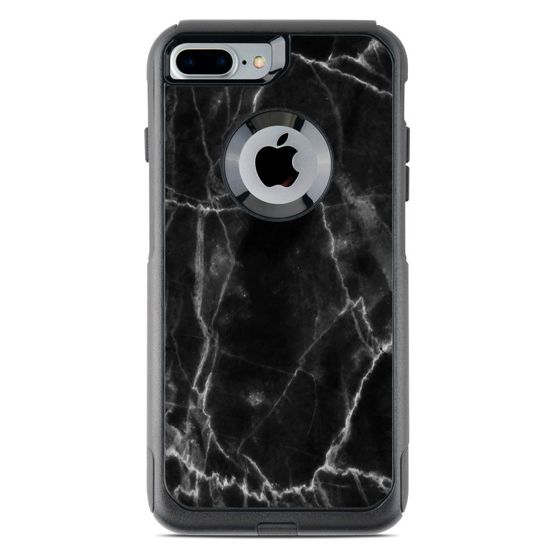 Black Marble OtterBox Commuter iPhone 8 Plus Case Skin