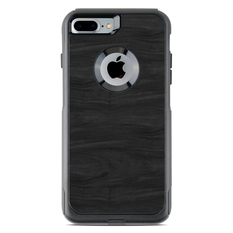 Black Woodgrain OtterBox Commuter iPhone 8 Plus Case Skin