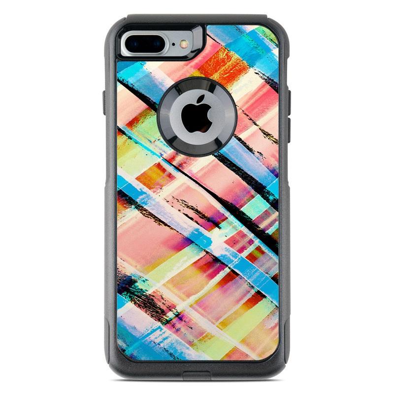 Check Stripe OtterBox Commuter iPhone 8 Plus Case Skin