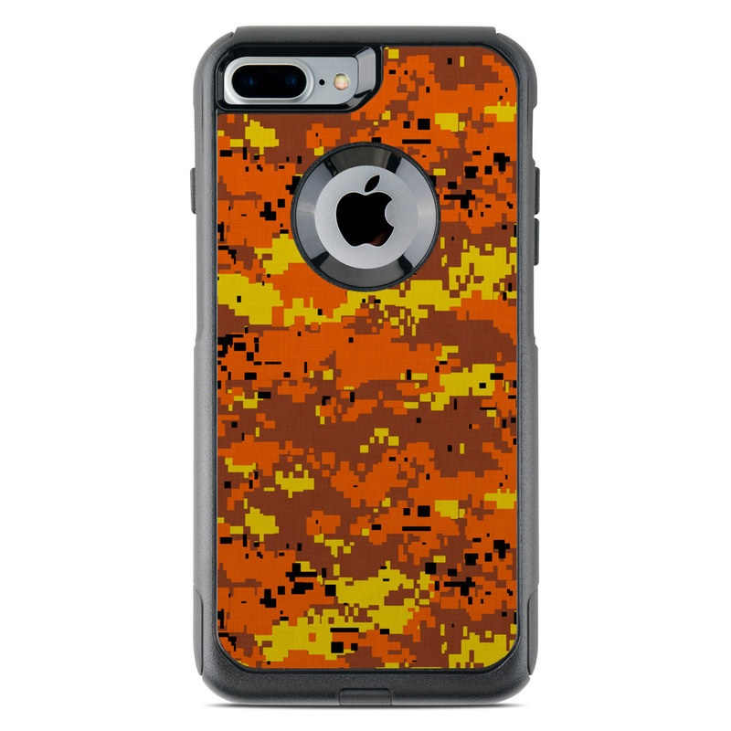 Digital Orange Camo OtterBox Commuter iPhone 7 Plus Skin