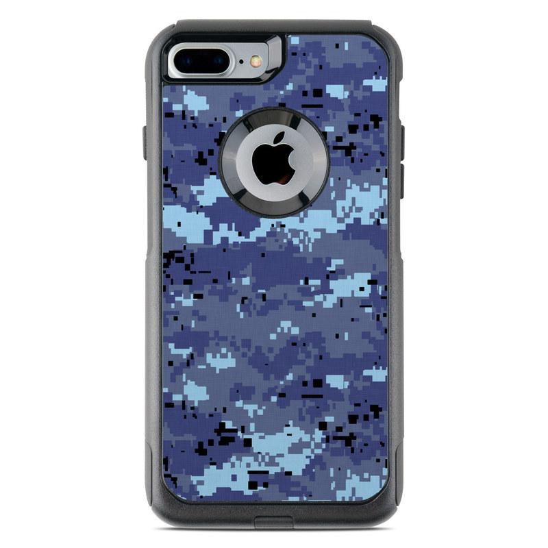 OtterBox Commuter iPhone 8 Plus Case Skin design of Blue, Purple, Pattern, Lavender, Violet, Design with blue, gray, black colors