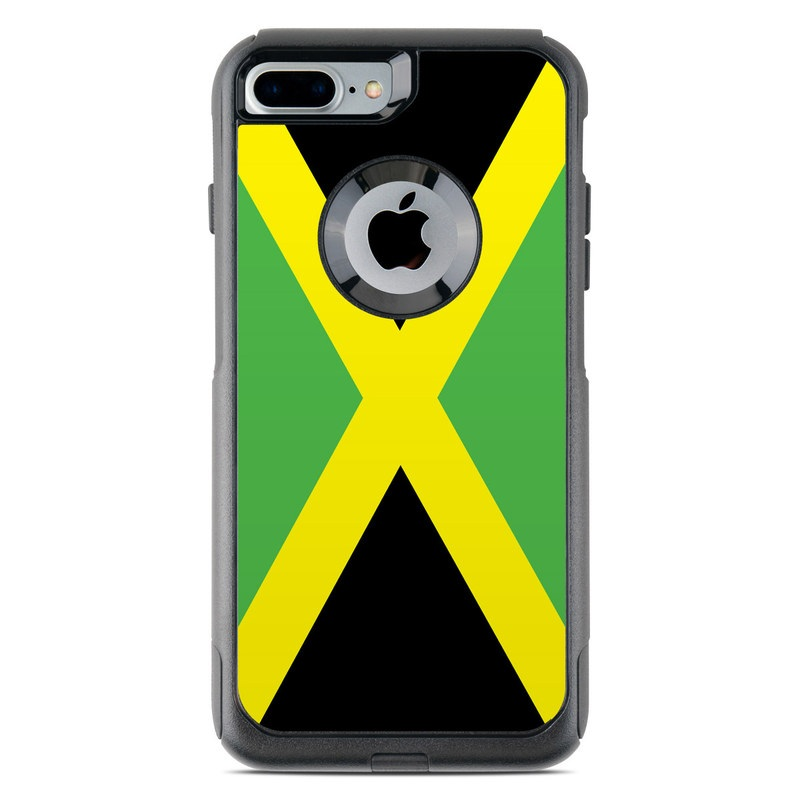 wholesale dealer ef4c8 cf97b Jamaican Flag OtterBox Commuter iPhone 8 Plus Case Skin