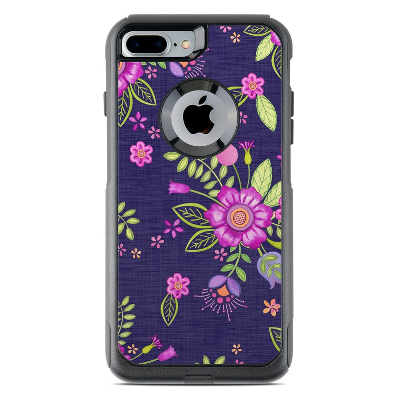 Folk Floral OtterBox Commuter iPhone 8 Plus Case Skin