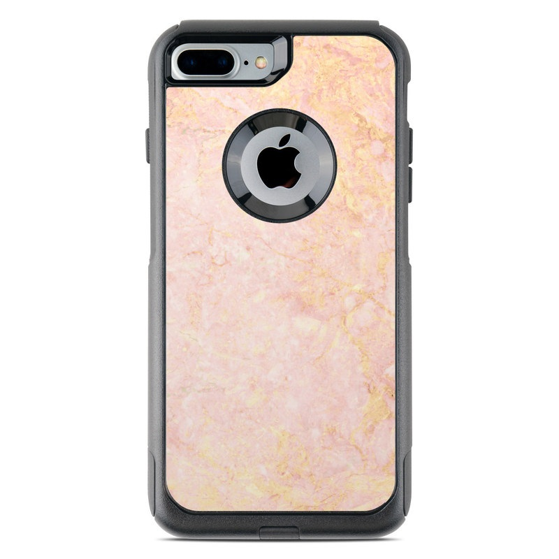 Rose Gold Marble OtterBox Commuter iPhone 7 Plus Skin