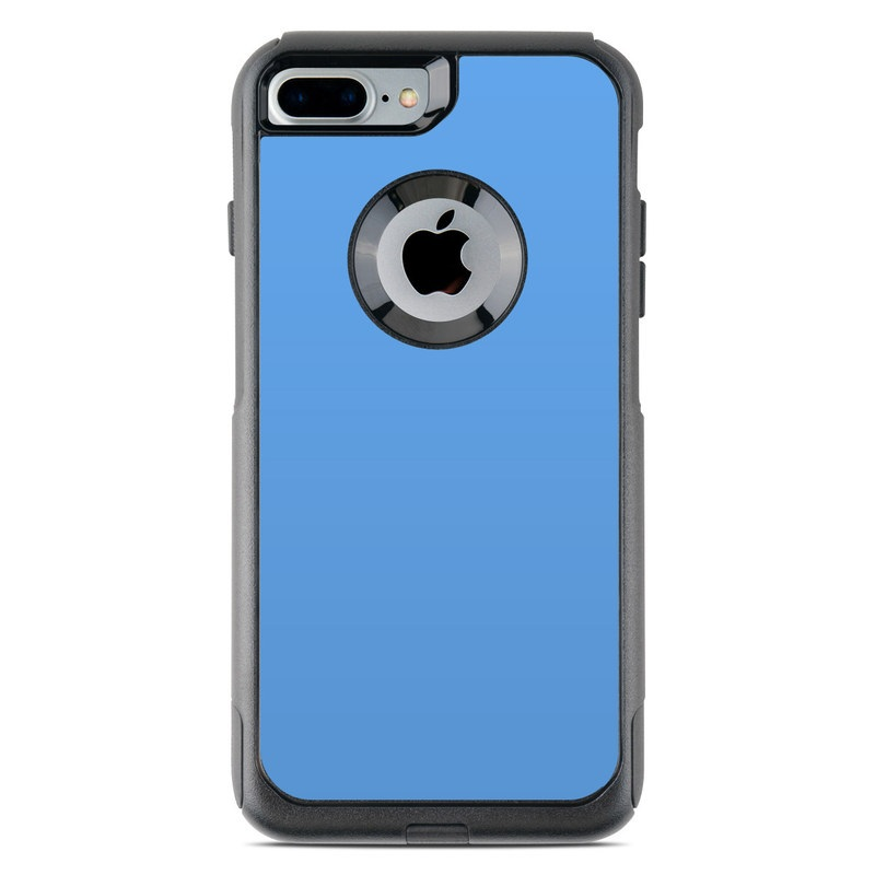 OtterBox Commuter iPhone 8 Plus Case Skin design of Sky, Blue, Daytime, Aqua, Cobalt blue, Atmosphere, Azure, Turquoise, Electric blue, Calm with blue colors