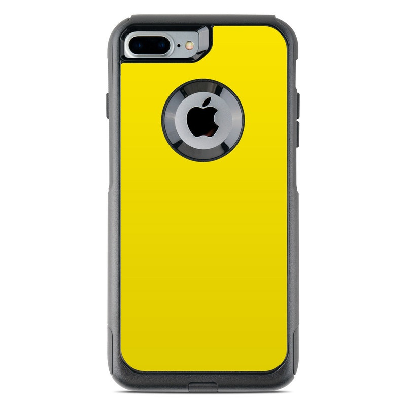 OtterBox Commuter iPhone 8 Plus Case Skin design of Green, Yellow, Orange, Text, Font with yellow colors
