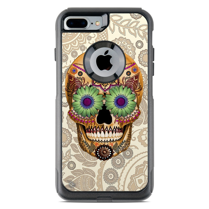Sugar Skull Bone OtterBox Commuter iPhone 8 Plus Case Skin