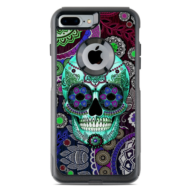 newest 321bd 56c3a Sugar Skull Sombrero OtterBox Commuter iPhone 8 Plus Case Skin
