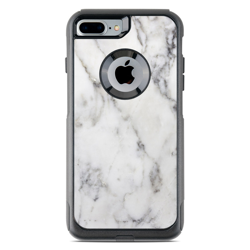 purchase cheap 3bd2a ca562 White Marble OtterBox Commuter iPhone 8 Plus Case Skin