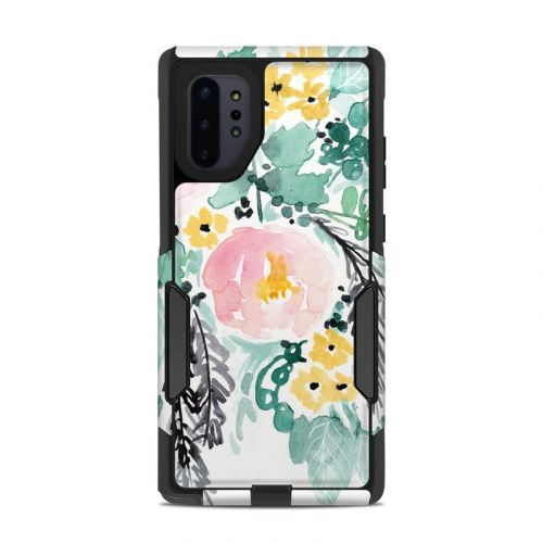 Blushed Flowers OtterBox Commuter Galaxy Note 10 Plus Case Skin