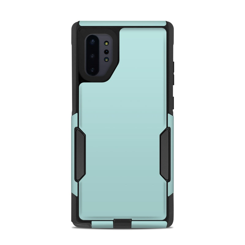 OtterBox Commuter Galaxy Note 10 Plus Case Skin design of Green, Blue, Aqua, Turquoise, Teal, Azure, Text, Daytime, Yellow, Sky with blue colors
