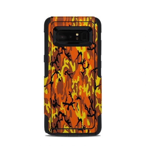 Orange Camo OtterBox Commuter Galaxy Note 8 Skin