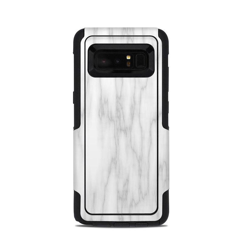 OtterBox Commuter Galaxy Note 8 Case Skin design of White, Tree, Line, Black-and-white, Monochrome, Branch, Drawing, Plant, Forest, Twig with white, gray colors