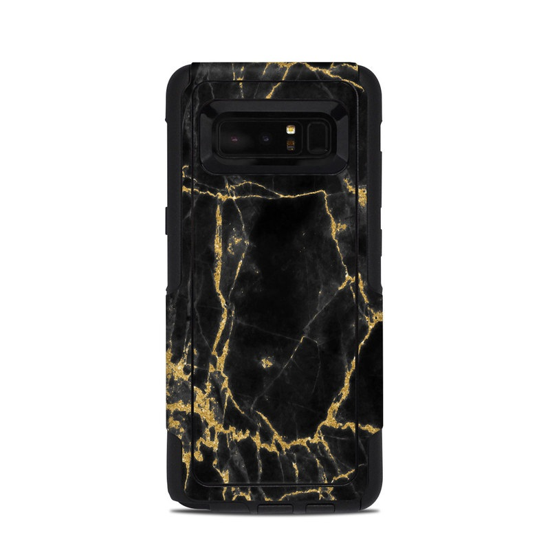 Black Gold Marble OtterBox Commuter Galaxy Note 8 Case Skin