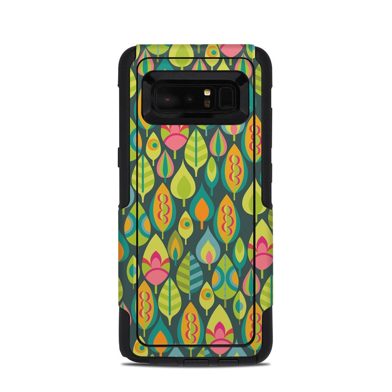 OtterBox Commuter Galaxy Note 8 Case Skin design of Pattern, Visual arts, Design, Textile, Art, Wrapping paper with green, orange, blue, pink colors