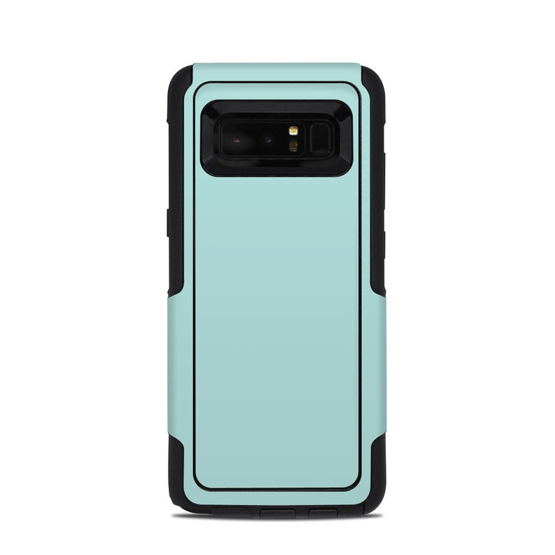 OtterBox Commuter Galaxy Note 8 Case Skin design of Green, Blue, Aqua, Turquoise, Teal, Azure, Text, Daytime, Yellow, Sky with blue colors
