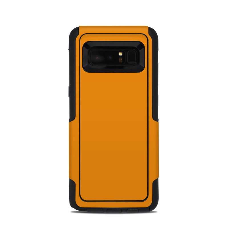 OtterBox Commuter Galaxy Note 8 Case Skin design of Orange, Yellow, Brown, Text, Amber, Font, Peach with orange colors