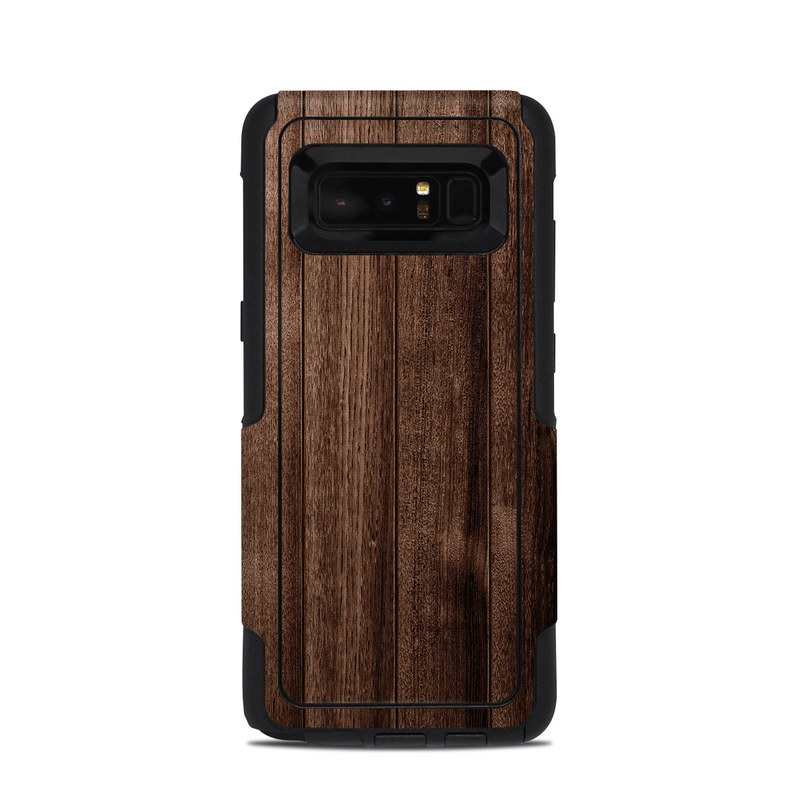 OtterBox Commuter Galaxy Note 8 Case Skin design of Wood, Wood flooring, Hardwood, Wood stain, Plank, Brown, Floor, Line, Flooring, Pattern with brown colors